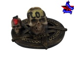 skull tattoo machine holder